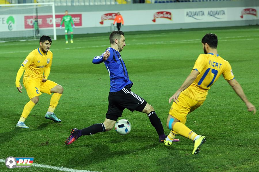 Muarem (M) in action for Qarabağ; photo: pfl.az